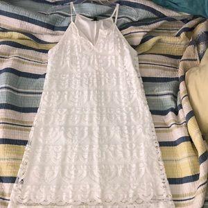 White scallop lace dress size medium